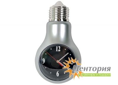 Часы настенные «Лампочка» с меняющей цвет подсветкой