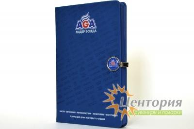 """Ежедневник  """"AGA"""" А5 с магнитной застежкой круглой."""