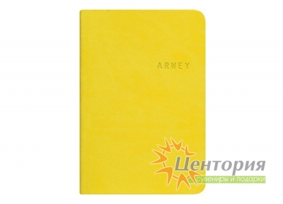 Записная книжка 8х12см Kline желтая