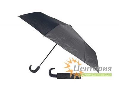 Зонт складной автоматический, цвет черный