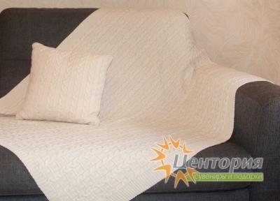 Плед и подушка «Косы»