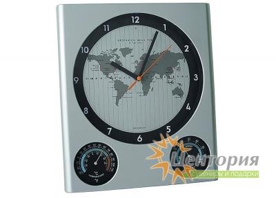 Погодная станция настенная: часы, термометр, гигрометр 2