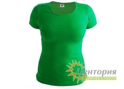 Футболка женская, зеленая