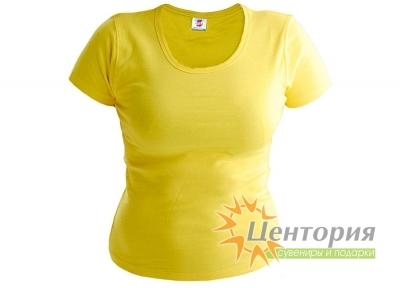 Футболка женская, лимонная