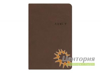 Записная книжка 8х12см Kline коричневая