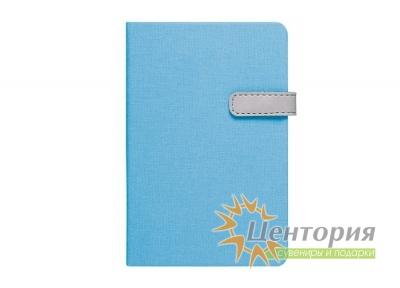 Записная книжка 10,7х16см Laur синяя