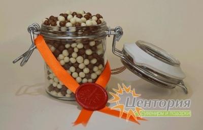 Шоколадная икра. Микс из белого и молочного Шоколада. 90 грамм