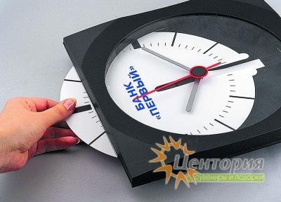 Часы настенные. Циферблат легко вынимается для нанесения