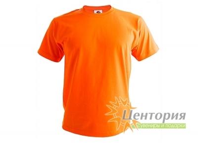 Футболка мужская, оранжевая