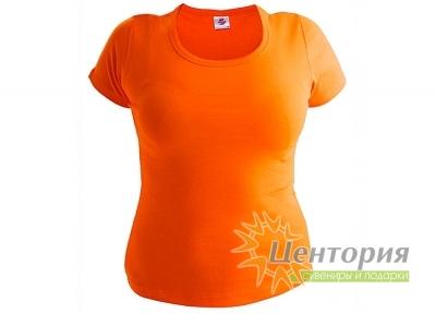 Футболка женская, оранжевая