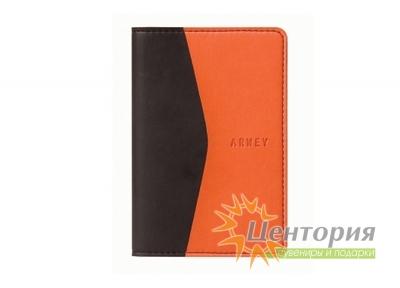 Записная книжка 8х12см Moura оранжево-черная