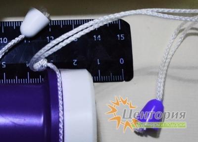 Дудка болельщика белая с фиолетовым маленькая