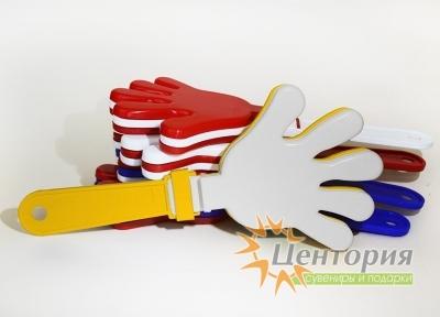 Ладошки-трещотки желтые с белым