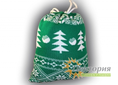 Вязаный новогодний мешок