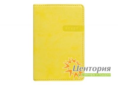 Записная книжка 8х12см Rams желтая