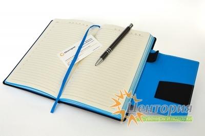 Ежедневник с цветным тиснением и магнитным клапаном