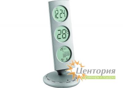 Погодная станция: часы с «мировым временем», термометр, календарь