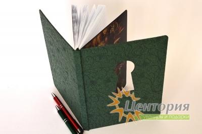 Ежедневник  с вырубкой на обложке и печатью на обрезе