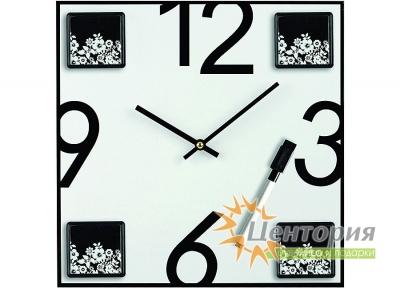 Часы/Настенные часы «Today» с 4 рамками для фотографий и маркером на магните