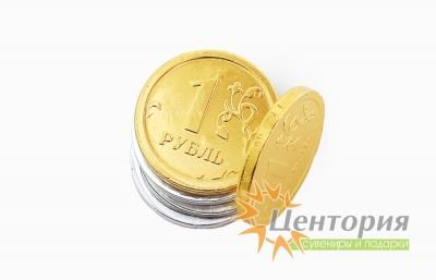 Шоколадные монеты с логотипом 6 гр.