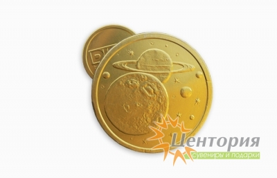 Шоколадные медали с логотипом 25 гр.