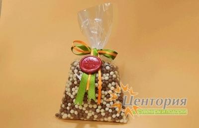 Шоколадная икра. Микс из белого и молочного Шоколада. 160 грамм