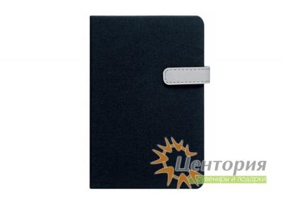 Записная книжка 10,7х16см Laur черная