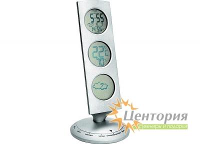 Погодная станция: часы, термометр, гигрометр, барометр, дата