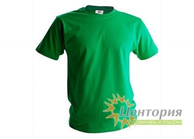 Футболка мужская, зеленая