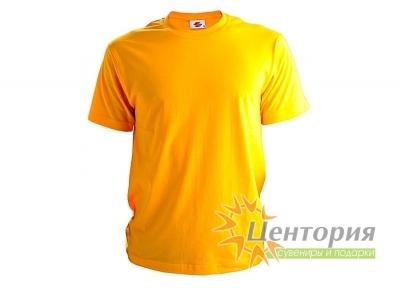 Футболка мужская, желтая