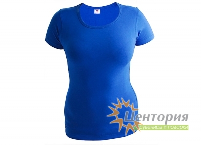 Футболка женская, синяя