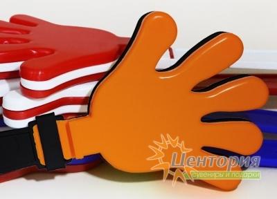 Ладошки-трещотки черные с оранжевым