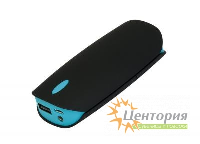 Powerbank Cleo PB, 4000 mAh, черный/аква, подарочная упаковка