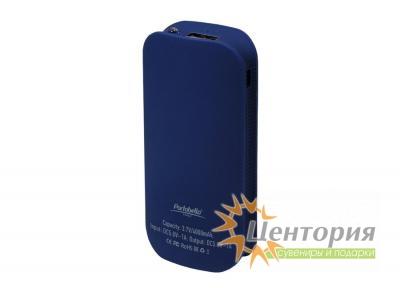 Powerbank City PB, 4000 mAh, синий, подарочная упаковка с блистером
